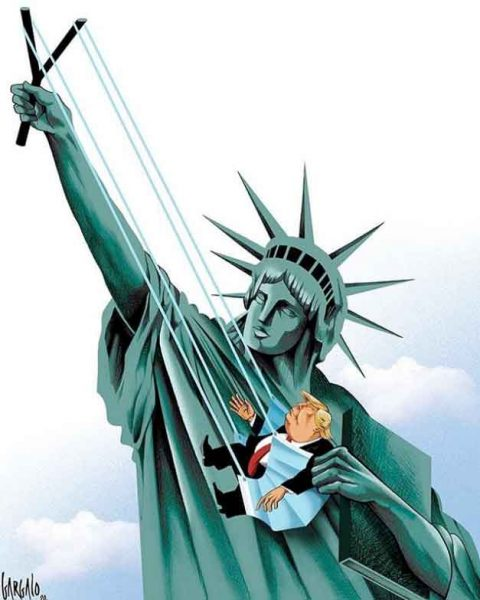 Lady Liberty Launches Trump Into the Stratosphere by Vasco Gargalo